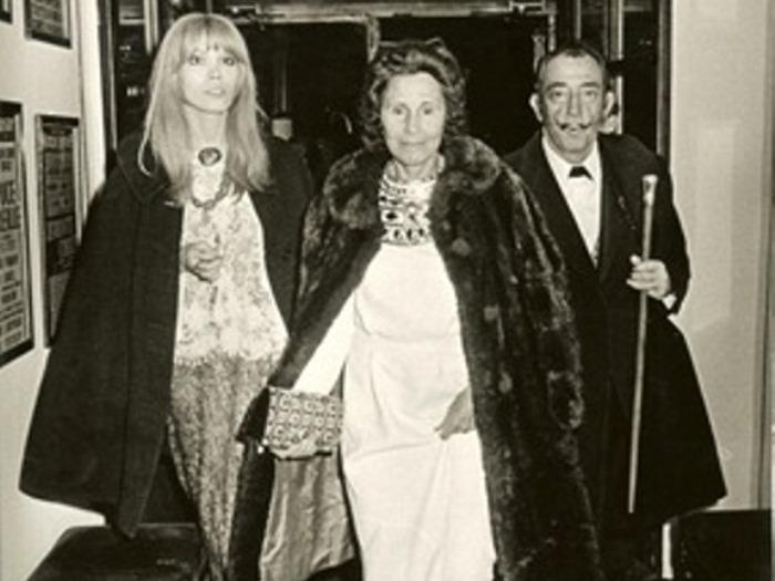 Аманда, Гала и Дали часто появлялись на публике втроем