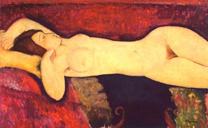 Амедео Модильяни. Большая обнаженная, 1917 г.