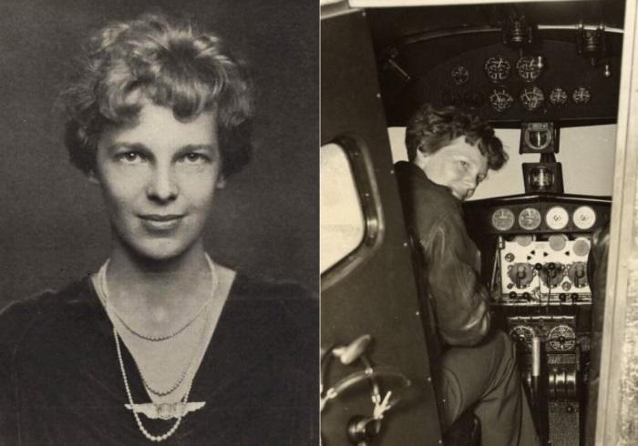 Легендарная летчица Амелия Эрхарт   Фото: foto-history.livejournal.com и womantory.livejournal.com