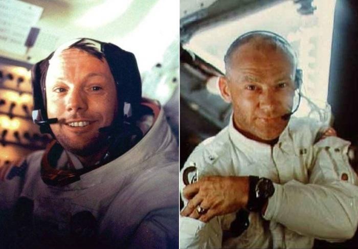 Командир корабля *Аполлон-11* Нил Армстронг и пилот Эдвин Олдрин | Фото: photobucket.com