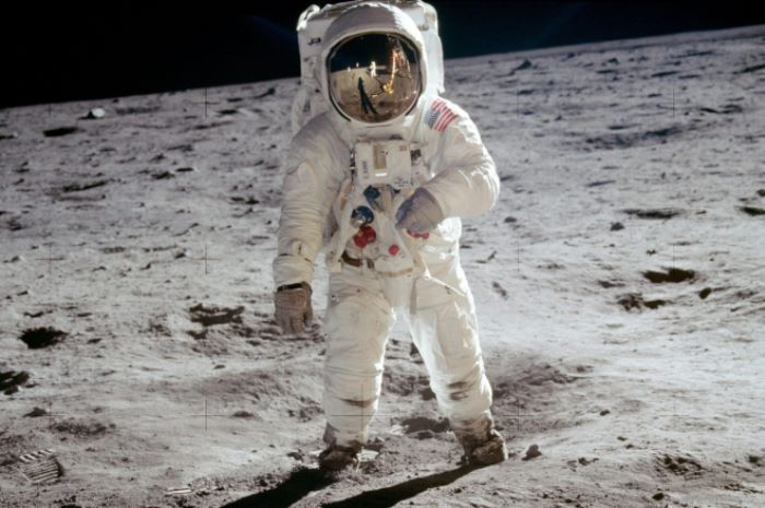 Эдвин Олдрин на Луне | Фото: aramgurum.ru