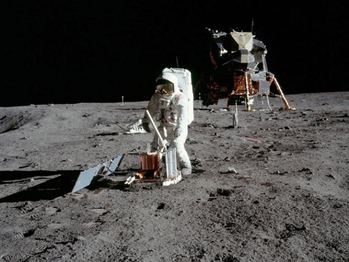 Эдвин Олдрин на Луне | Фото: mosmonitor.ru