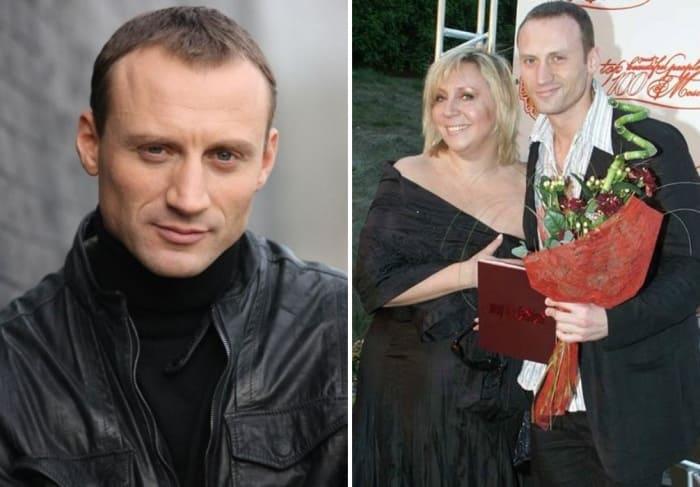 Актер с первой женой, Мариной Голуб   Фото: kino-teatr.ru, stuki-druki.com