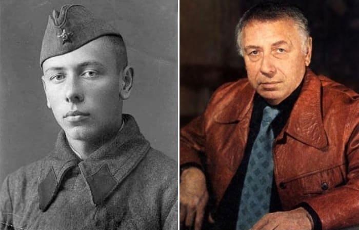 Анатолий Папанов в 1941 г. и в мирное время | Фото: topwar.ru и chtoby-pomnili.net