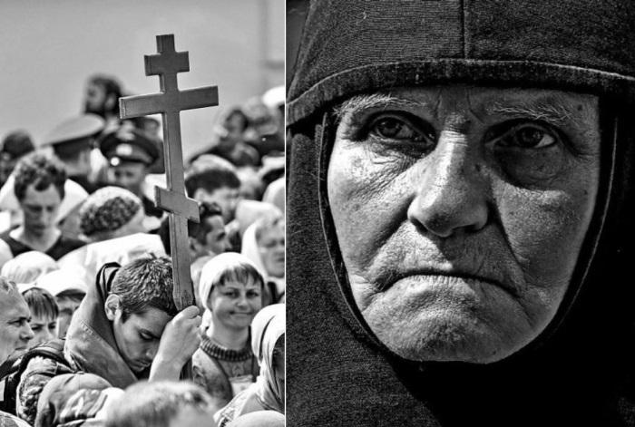 Слева – *Великорецкий крестный ход*. Справа – *Взгляд сильной женщины*. Фото Андрея Рассанова | Фото : kirov.aif.ru