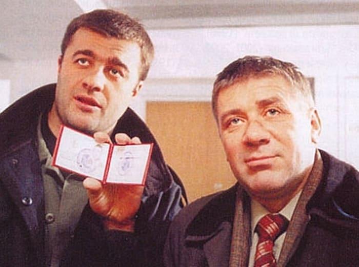 Андрей Краско и Михаил Пореченков в фильме *Агент национальной безопасности*, 1998   Фото: kino-teatr.ru