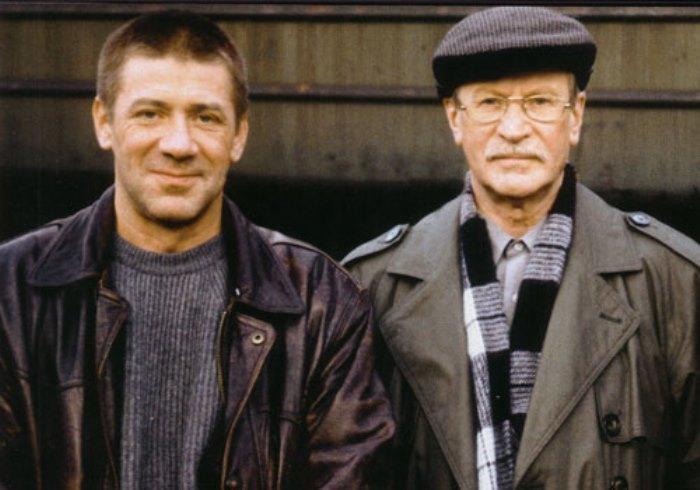Актер вместе с отцом, Иваном Краско | Фото: kino-teatr.ru