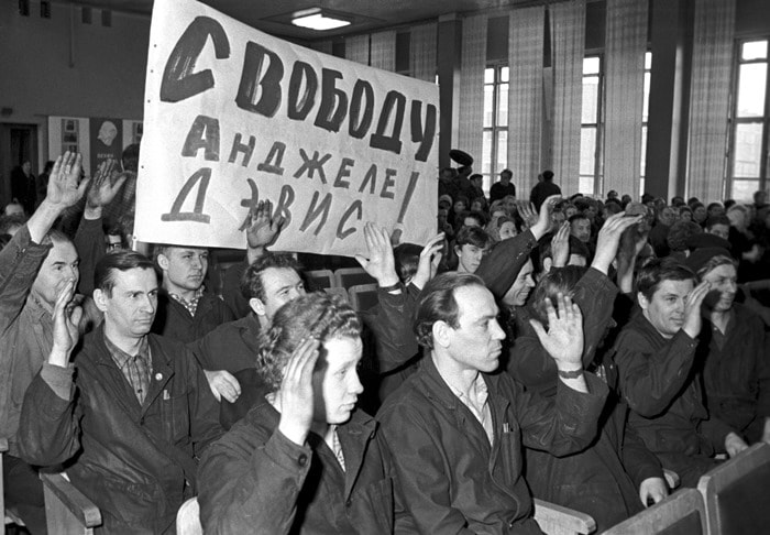 Митинги в защиту Анджелы Дэвис   Фото: tvc.ru