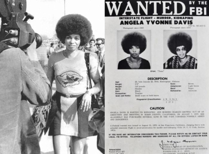 Самая опасная преступница в США в 1970-х   Фото: blackthen.com и april-knows.ru