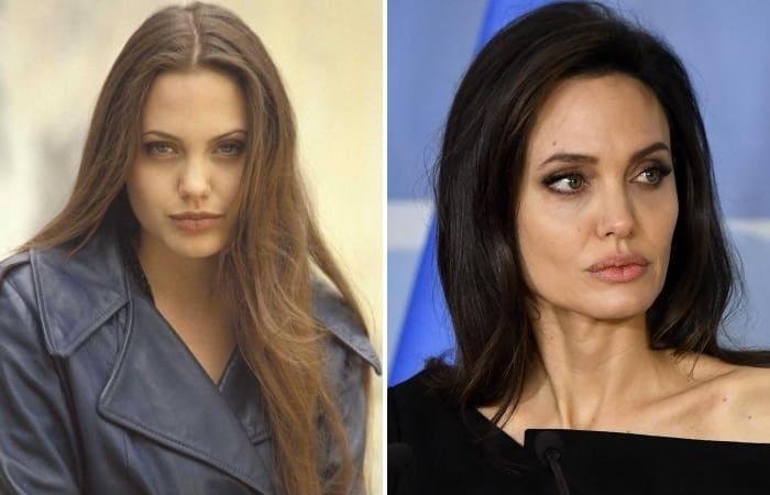 Анджелина Джоли в юности и в наши дни | Фото: shining-stars.ru, passion.ru