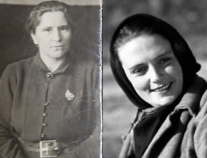 Санитарка Мария Попова и ее кинодвойник – Анка-пулеметчица.