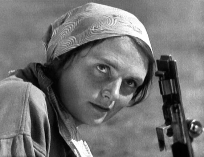 Варвара Мясникова в роли Анки-пулеметчицы