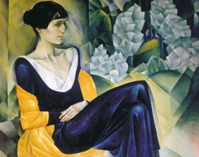 Н. Альтман. А. Ахматова, 1914. Фрагмент