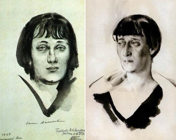 Н. Тырса. А. Ахматова, 1927-1928