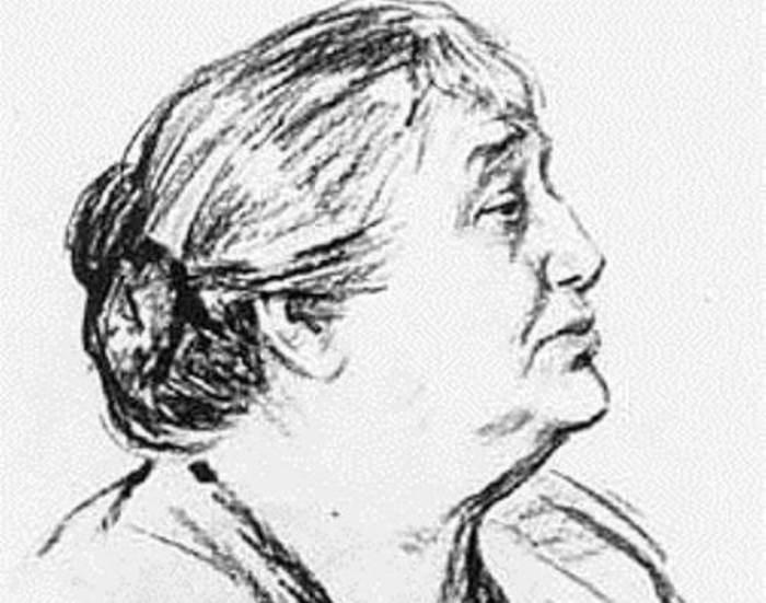 М. Лянглебен. А. Ахматова, 1964