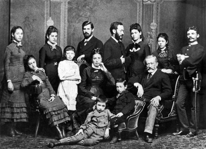Семья Зигмунда Фрейда, 1876 г. | Фото: psychojournal.ru