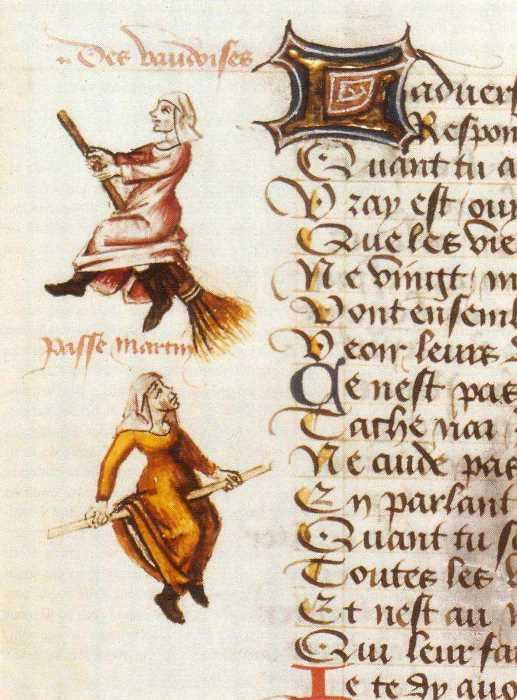 Поэма о ведьмах Мартина ле Франка, иллюстрированная изображениями преступниц, 1451 | Фото: nashagazeta.ch