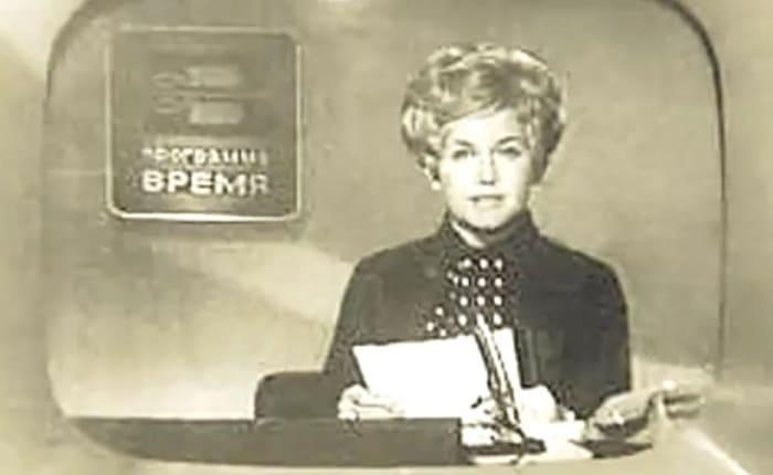 Анна Шатилова в эфире программы *Время*, 1960-е гг. | Фото: kino-teatr.ru