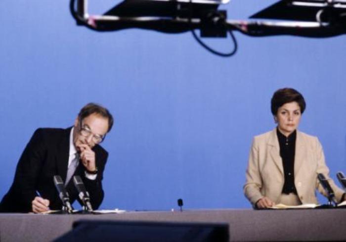 Дикторы Аза Лихитченко и Игорь Кириллов | Фото: kpopnews.ru