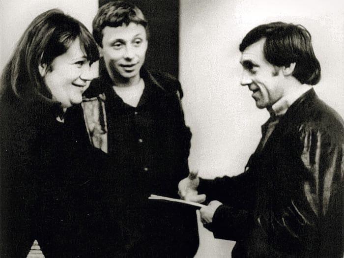 Галина Волчек, Олег Даль и Владимир Высоцкий, 1974 | Фото: echo.msk.ru