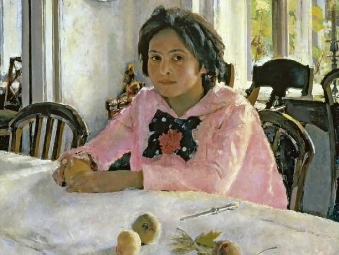 В. Серов. Девочка с персиками, 1887. Фрагмент | Фото: gallerix.ru