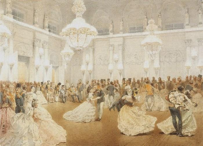 М. Зичи Бал в Концертном зале Зимнего дворца в честь шаха Насир-ад-Дина в мае 1873 года