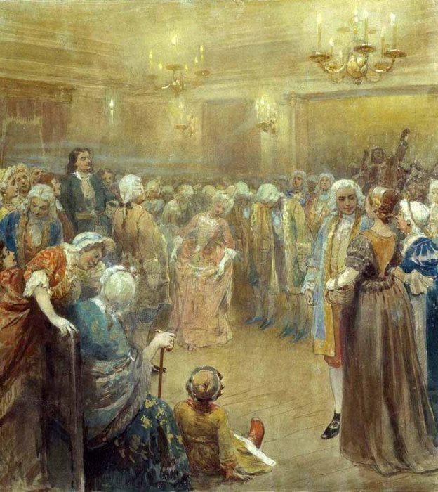 К. Лебедев. Ассамблея при дворе Петра I