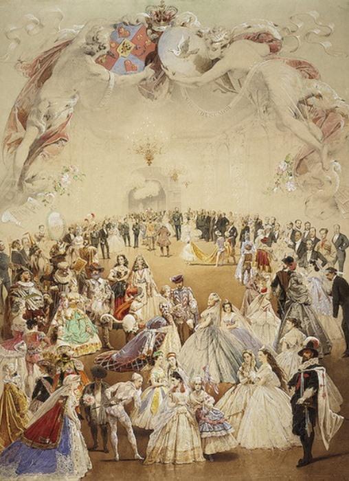 М. Зичи Костюмированный бал во дворце княгини Елены Кочубей в честь императора Александра II 5 февраля 1865