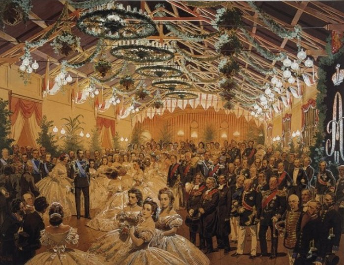 М. Зичи бал в честь Александра II в Гельсингфорсе в здании вокзала