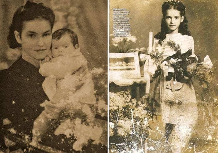 Барбара Брыльска в детстве с матерью | Фото: stuki-druki.com
