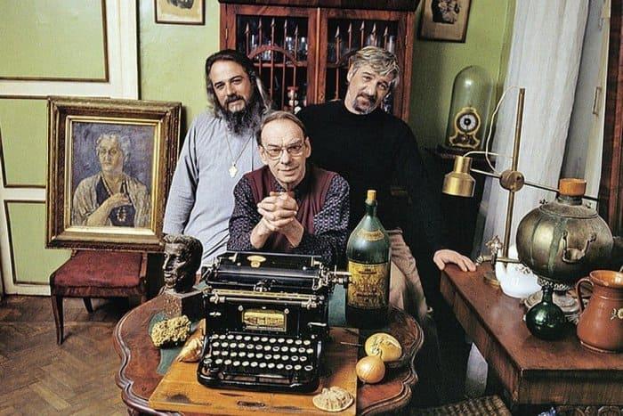 Братья Алексей Баталов, Михаил и Борис Ардовы | Фото: retrospectra.ru