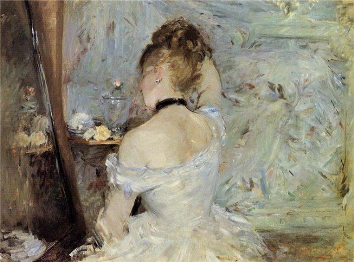 Берта Моризо. Женщина перед зеркалом, 1880 | Фото: liveinternet.ru