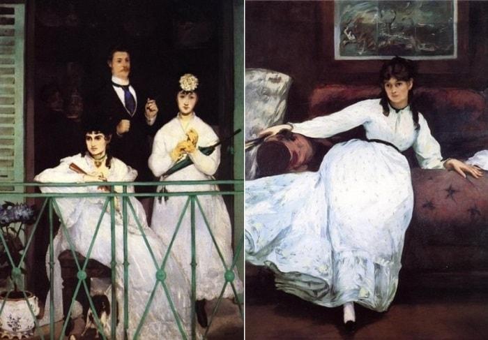 Э. Мане. Слева – *Балкон*, 1869. Справа – *Отдых (Портрет Берты Моризо)*, 1870 | Фото: artchive.ru