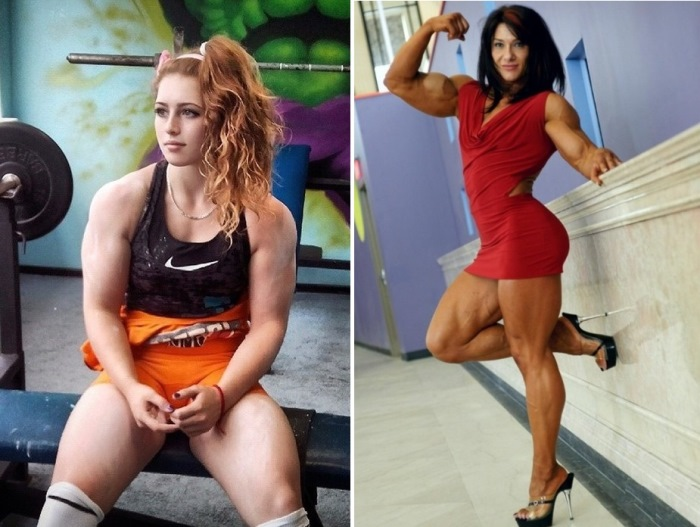 *Барби с телом Халка* Юлия Винс и фитнес-модель Алина Попа