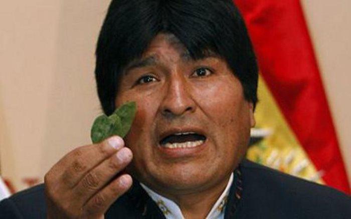 Президент Боливии Эво Моралес всегда жует листья коки на международных встречах