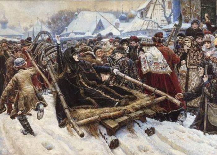 В. Суриков. *Боярыня Морозова*, фрагмент