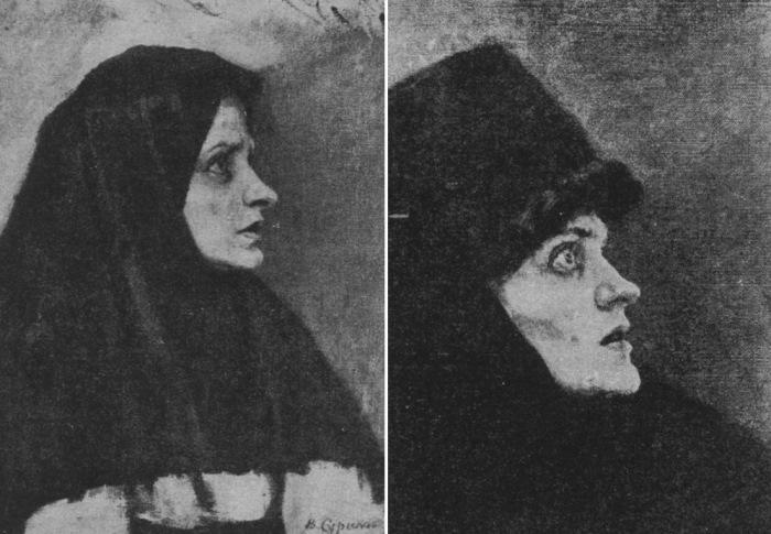 В. Суриков. Голова боярыни Морозовой. Этюды к картине
