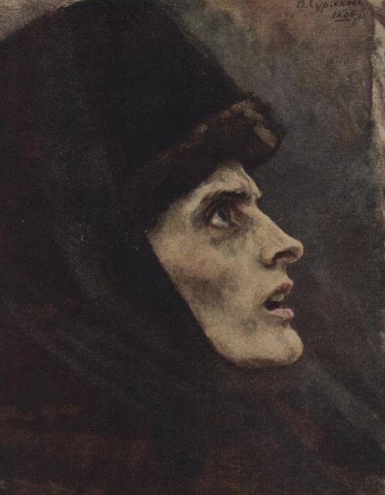 В. Суриков. Голова боярыни Морозовой. Этюд к картине, 1886