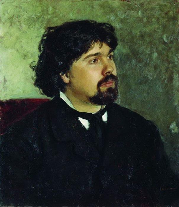 И. Репин. *Портрет В. Сурикова*