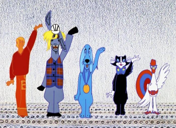 Кадр из мультфильма *Бременские музыканты*, 1969 | Фото: kinopoisk.ru