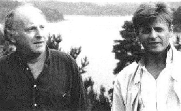 Иосиф Бродский и Михаил Барышников на Гудзоне, 1993   Фото: discours.io