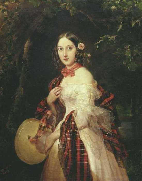 П. Орлов. Портрет М. А. Бек, урожденной Столыпиной, 1839   Фото: tarhany.ru
