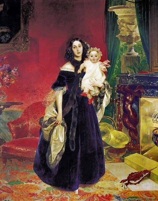 К. Брюллов. М. А. Бек с дочерью, 1840 | Фото: gallerix.ru