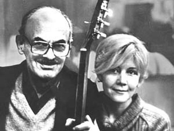 Булат Окуджава и его вторая жена Ольга Арцимович | Фото: vilavi.ru