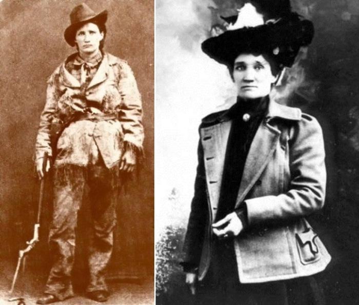 Джейн-катастрофа в мужском облачении и в женском | Фото: retro.cc