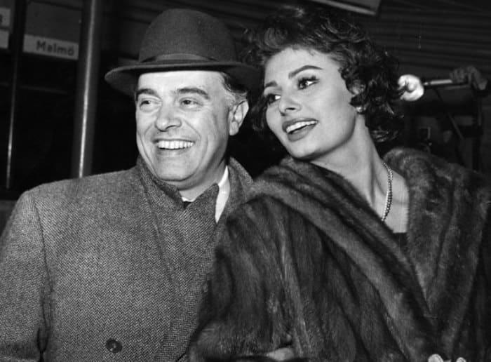 Карло Понти и Софи Лорен в 1958 г. | Фото: ru.hellomagazine.com