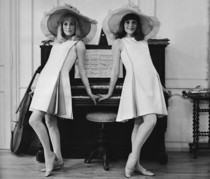 Катрин Денев и ее сестра Франсуаза Дорлеак
