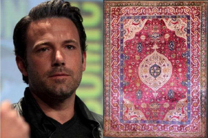 Бен Аффлек и ковер за 2,5 тысячи долларов