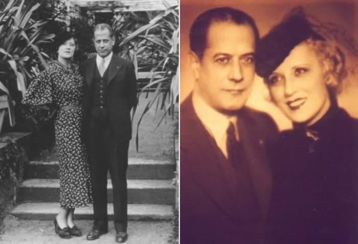 Хосе Рауль Капабланка и его жена Ольга | Фото: chesshistory.com