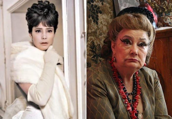Татьяна Самойлова в фильмах *Анна Каренина*, 1967, и *Нирвана*, 2008 | Фото: kino-teatr.ru